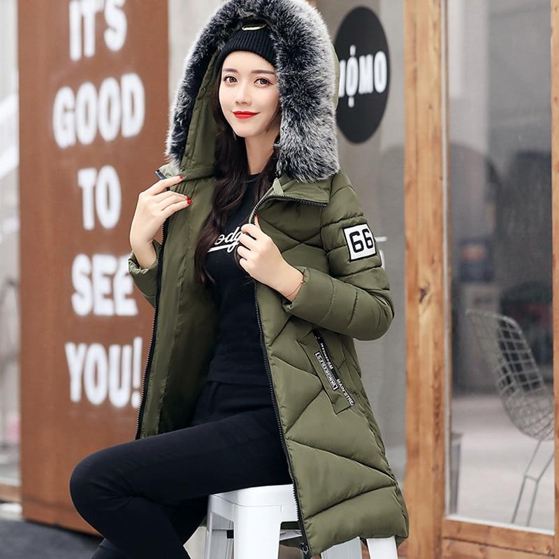 Vêtements Noir Capuche rouge Longue D'extérieur army Femmes À Veste Casaco D'hiver 2019 Arrivée Feminina Chauds Baliweisa Parka Green Coton Inverno gris Manteau Rembourré Femelle Mince Fwvfq