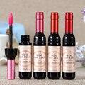 Moda Autêntica 6-color Vinho Garrafa Lip Gloss Umidade Duradoura Hidratante Labial Batom líquido Mancha I061
