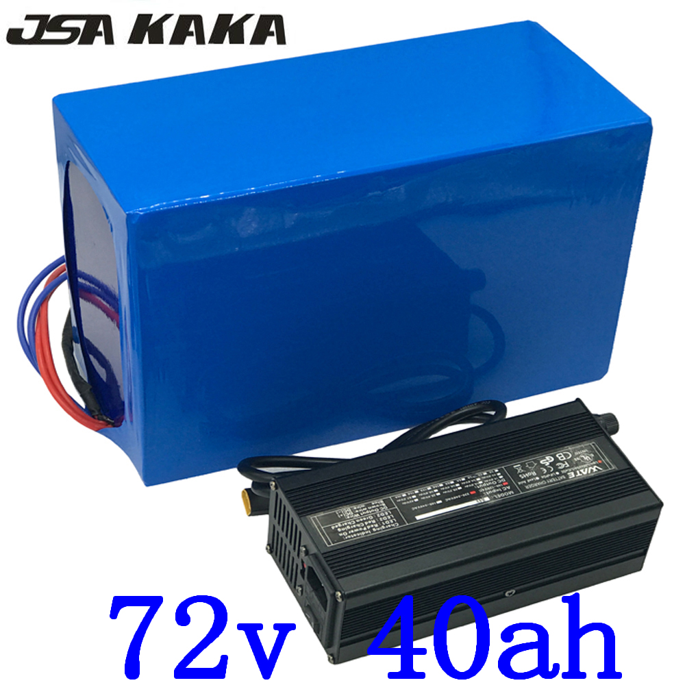 Free Customs tax 3000W 72V 40AH Electric Bicycle Battery 72V 40AH Lithium ebike Battery use 3.7V 5000MAH 26650 cell with charger image