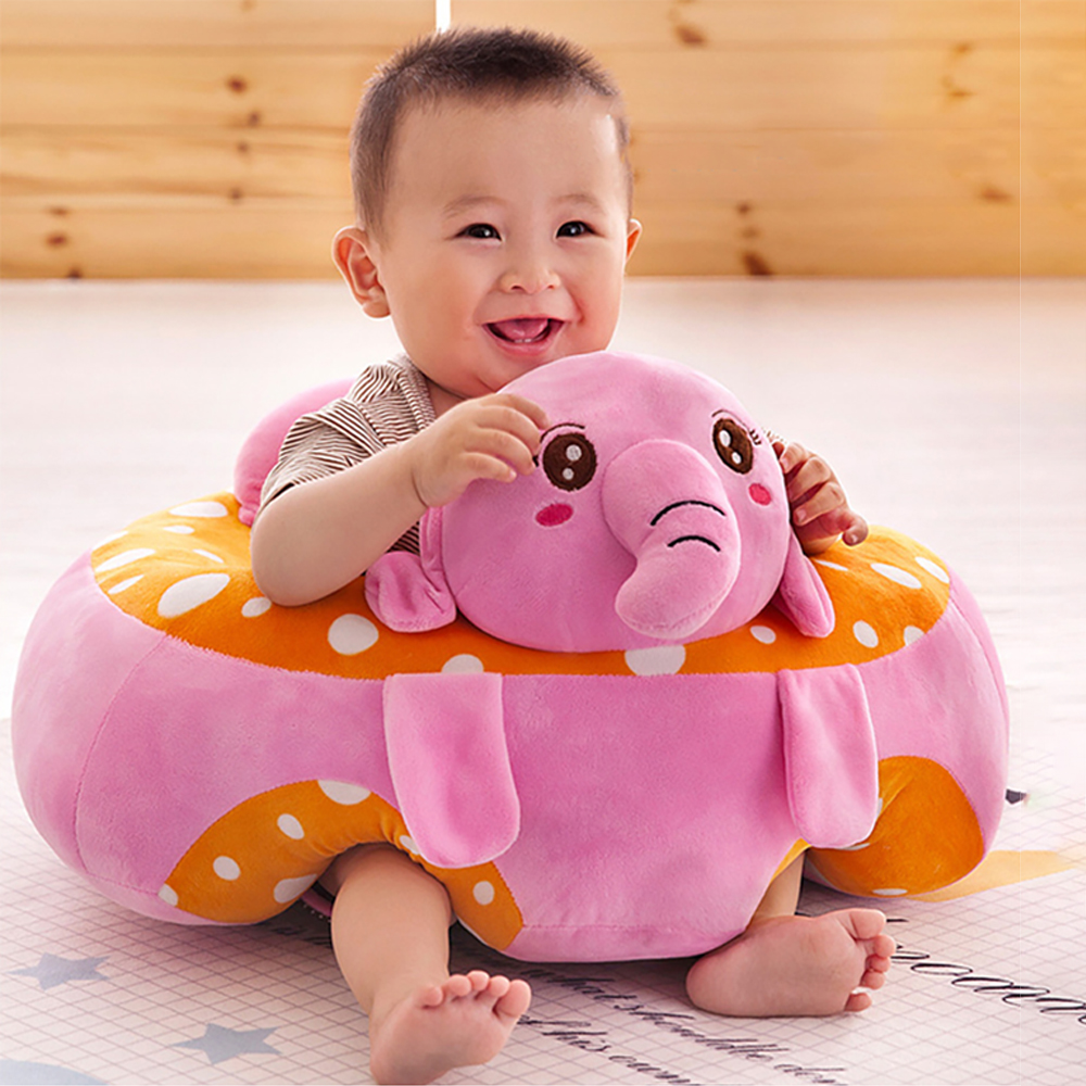 Baby Chair Support Seat Plush Soft Baby Sofa Cartoon Infant Learning To Sit Chair Keep Sitting Posture Comfortable For 0 3 Month