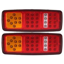 1 Pair 33 LED Car Tail Light Stop Rear Indicator Lights Reverse Lamp for Truck Bus Van 12V 24V Waterproof