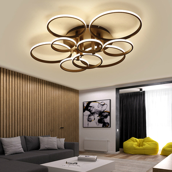 best service 00c41 05538 Modern Brown or white LED Ceiling Light Remote control light fixture living  room illumination kids bedroom fixtures luminaire