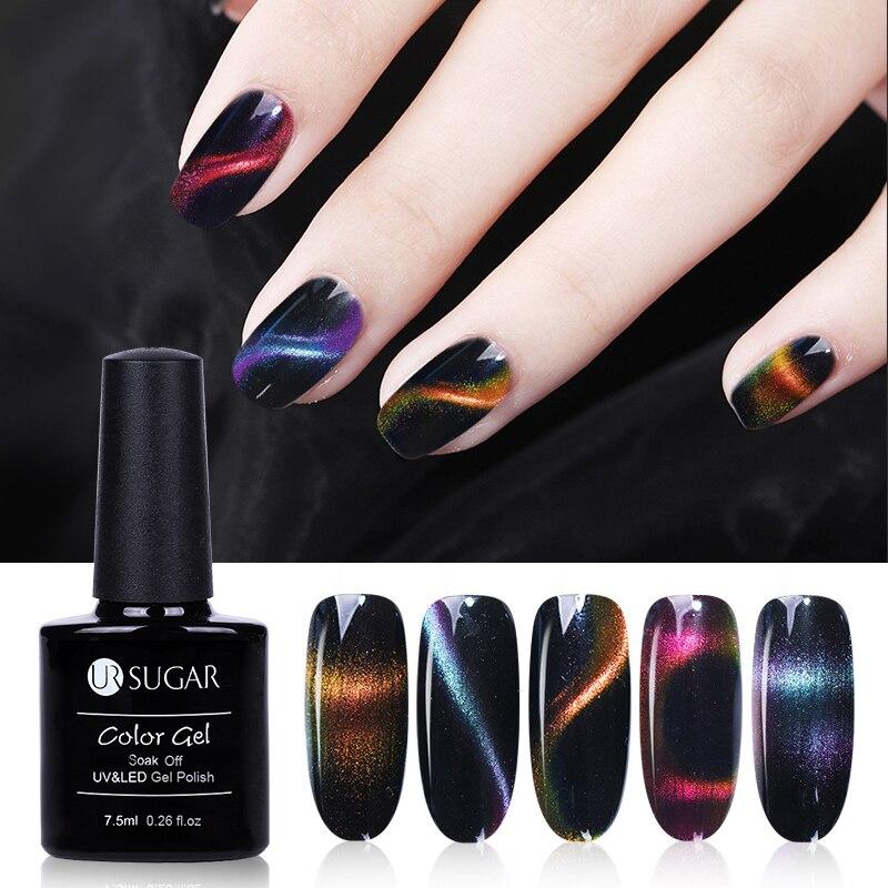 Generous Ur Sugar 7.5ml Shining High Quality Magice 3d Chameleon Cat Eye Magnetic Gel Magic Stick Gradient Effect Soak Off Uv Led Gel Nail Gel Beauty & Health