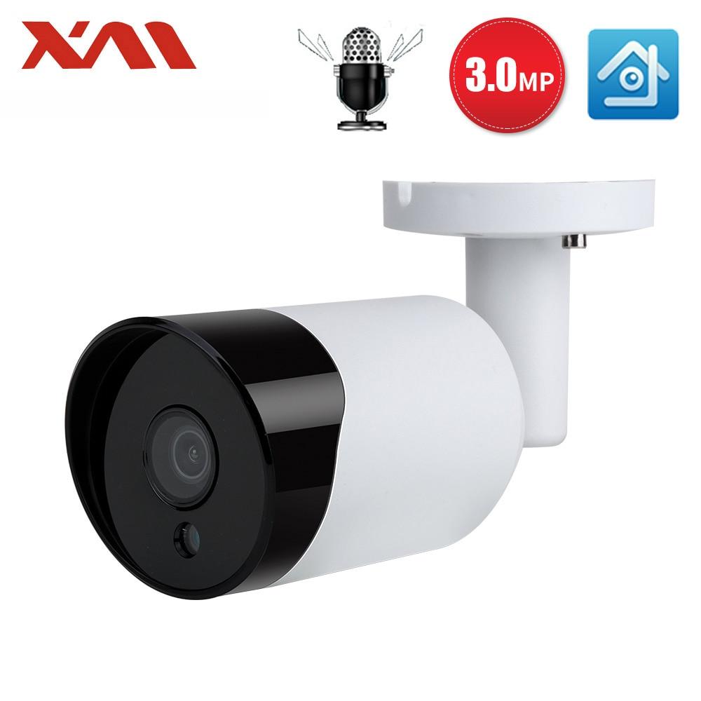 XM HD 3 0MP Audio Record CCTV POE IP Camera Outdoor Waterproof IR P2P Onvif Security