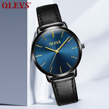 OLEVS Fashion Women's Wrist Watches Top Luxury Brand Ladies Geneva Quartz Clock Female Leather Wristwatch relojes mujer 2017