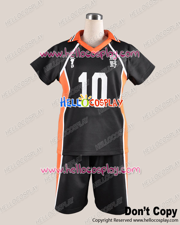 Haikyu Cosplay Juvenile The 10th Ver Uniform Costume H008 cotton+polyster