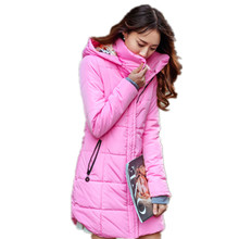 Plus size Candy color Slim Cotton coat women Parka 6XL Autumn winter jacket Women Thick Hooded Cotton-Padded Jacket TT1685C