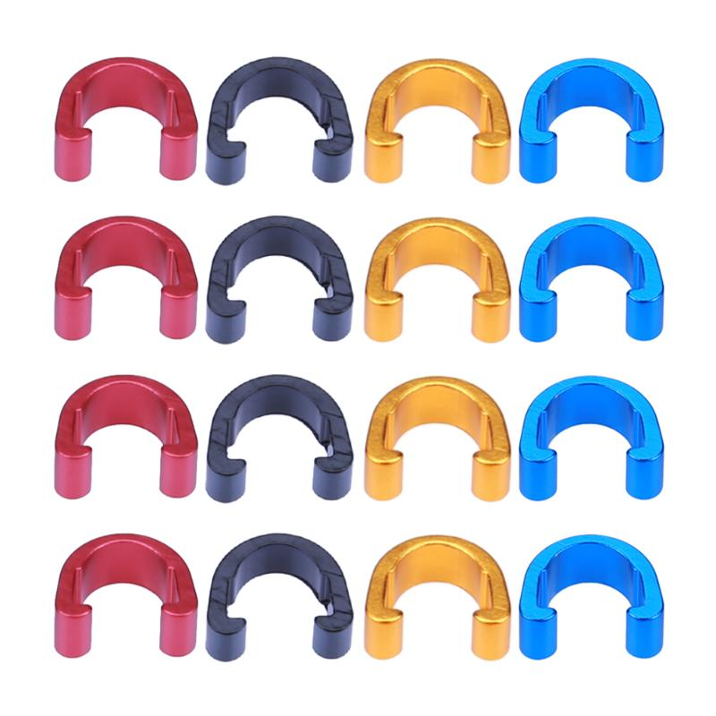 10pcs Bike Bicycle C-Clips Buckle Hose Brake Gear Cable Housing Guide Bicycle Brake Cable Clips Mountain Bike Brake Line Buckle mking mountain bike bicycle brake line tube kit black