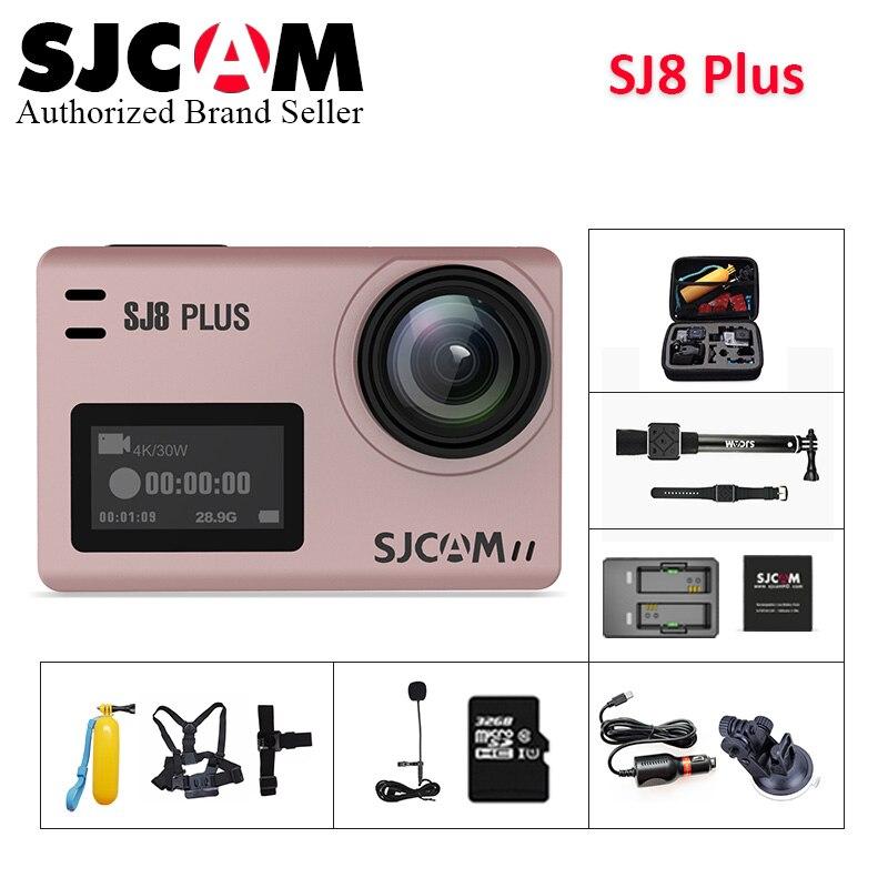 SJCAM SJ8 plus wifi caméra d'action 12MP Novatek NT96683 écran tactile étanche sport DV télécommande pk eken h9 yi 4 k caméra