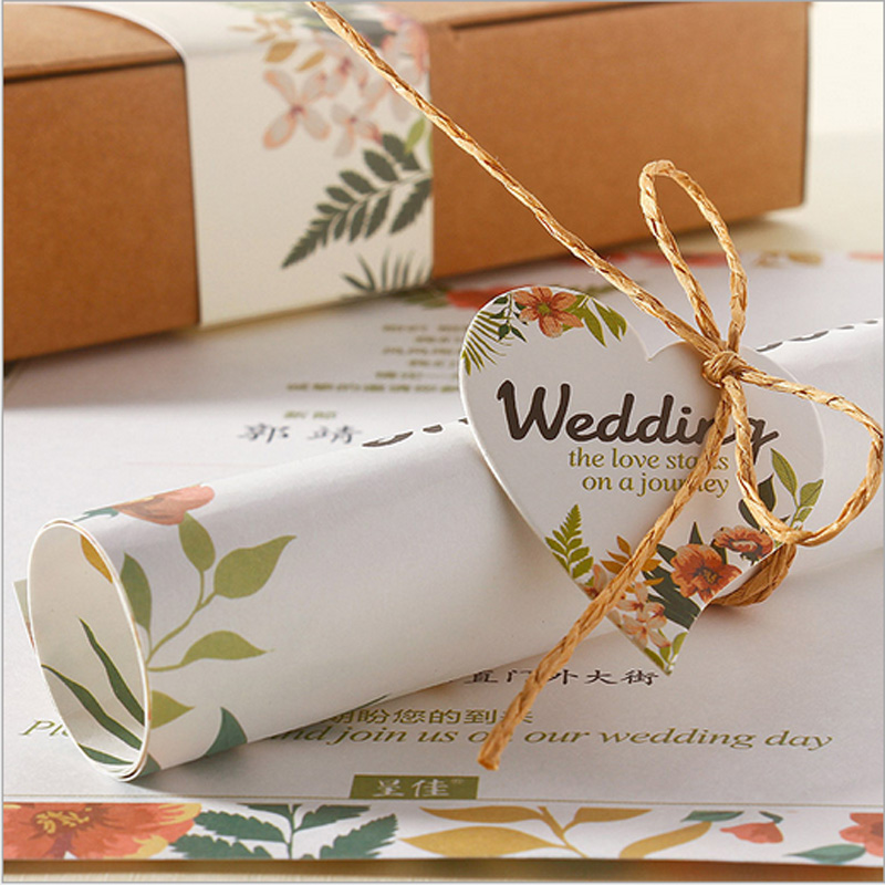 Wedding Invitations Business: 100Pcs Romantic Wedding/Business/Party/Birthday Invitation