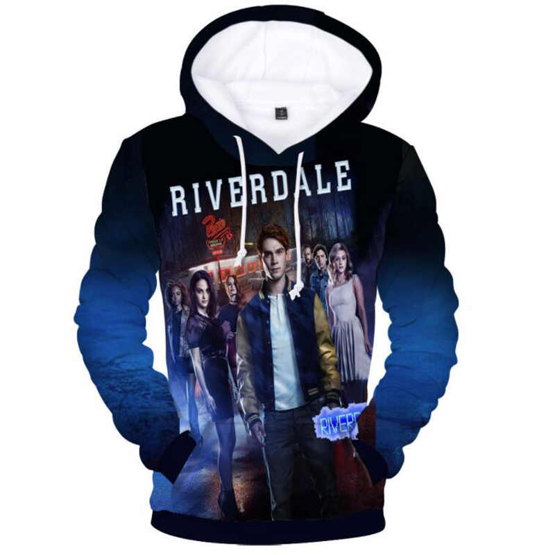 Riverdale South Side Schlangen 3D Hoodies Sweatshirts Männlich sudadera hombre Jughead Jones Archie Andrews Winter kapuzenjacke Männer
