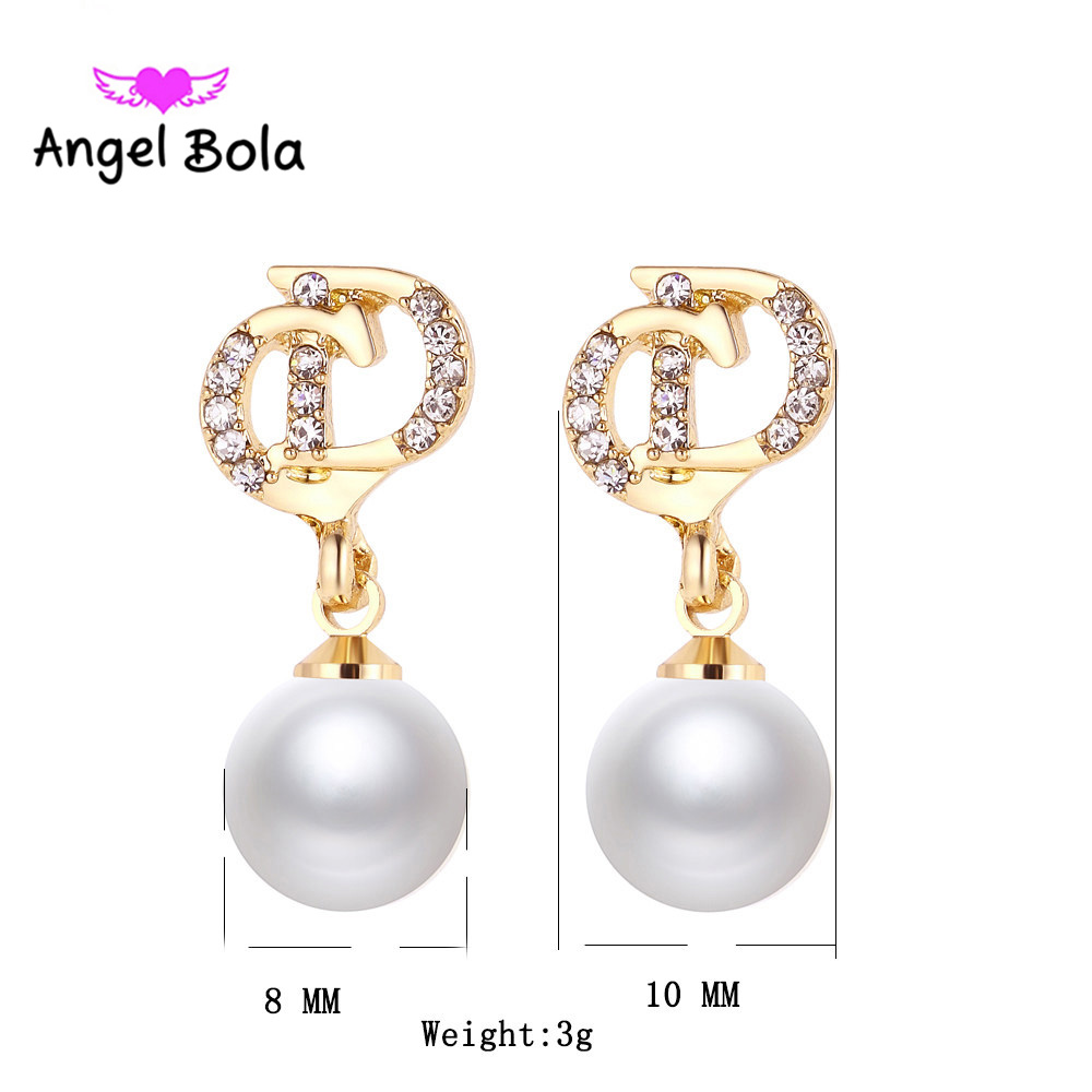 10Pcs/lot Pryme Stud Earring Fashion Jewelry Rhinestone Pearl Earring Fit Party Woman Earring Jewelry Wholesale ZE-006