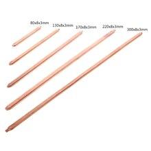 Труба из чистой меди 150 мм/200 мм/250 мм/300 мм, трубка для охлаждения ноутбука, плоская или круглая тепловая трубка