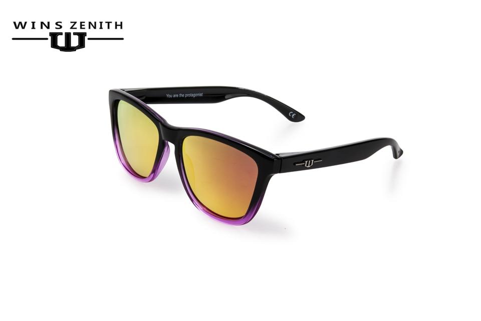 Winszenith 105 Nouvelle flèche lunettes de soleil des femmes rétro rivet ronde cadre lunettes Coréen transparent couleur lunettes de soleil