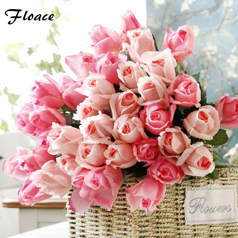 Floace 10pcs lot 2017 new fresh rose artificial flowers for Real plants for home decor
