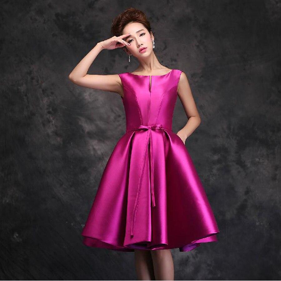 Vestidos de dama de honor corto verano estilo nuevo 2018 moda diseño ...