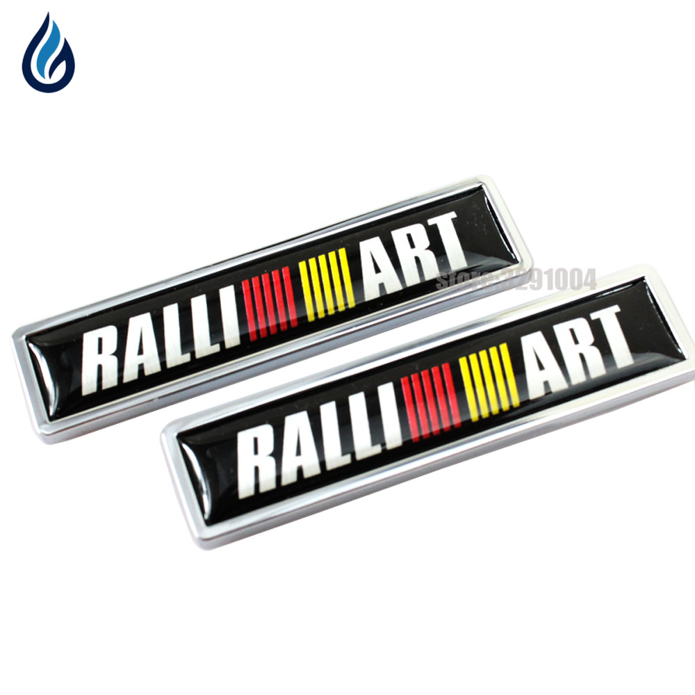 Car Decoration Badge Decal Metal Emblem Sticker for Mitsubishi RALLIART logo ASX Lancer Pajero Outlander L200 EVO Eclipse Galant yuzhe leather car seat cover for mitsubishi lancer outlander pajero eclipse zinger verada asx i200 car accessories styling