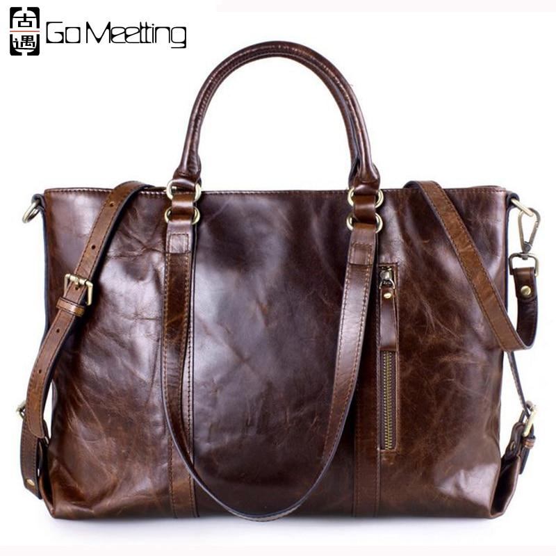 Go Meetting Brand Design Genuine Leather Women Handbags Oil Wax Cowhide High Quality Satchels Women Shoulder Bag Messenger Bag женские часы go girl only go 694923
