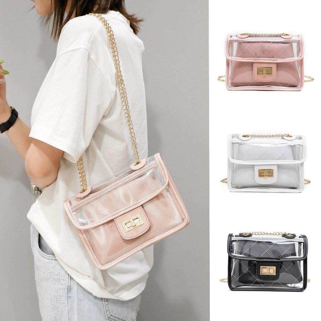 Xiniu Chains-Shoulder-Bag Pu-Handbag Clear Transparent Small New-Fashion Square Designer