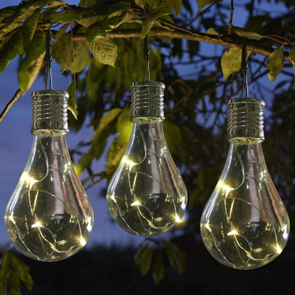100% Brand New Solar Light Bulb Waterproof Solar Rotatable Outdoor Garden Camping Hanging LED Light Lamp Bulb#X