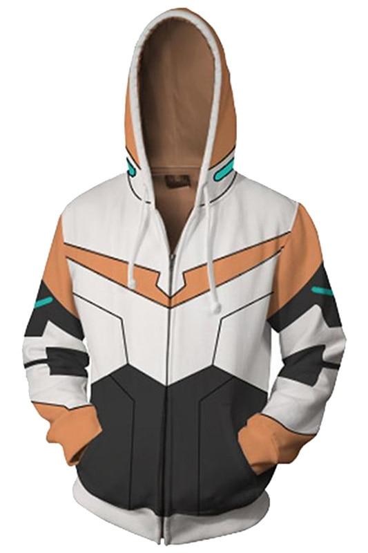Voltron:Legendar Defender of the Universe Lance Hoodie 3D Printed Zipper Up Hooded Adult Men Casual Sweatshirt Cool Hoody Hoodie