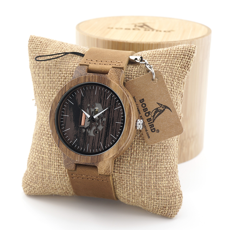 BOBO BIRD Mens Simplicity Classic Unique Wood Watches Top Brand Design Elegant Wooden WristWatches With Real