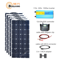 Boguang 100w solar panel 50A controller cable MC4 connector adapter 500w solar DIY kit system for 12v battery RV yacht car power