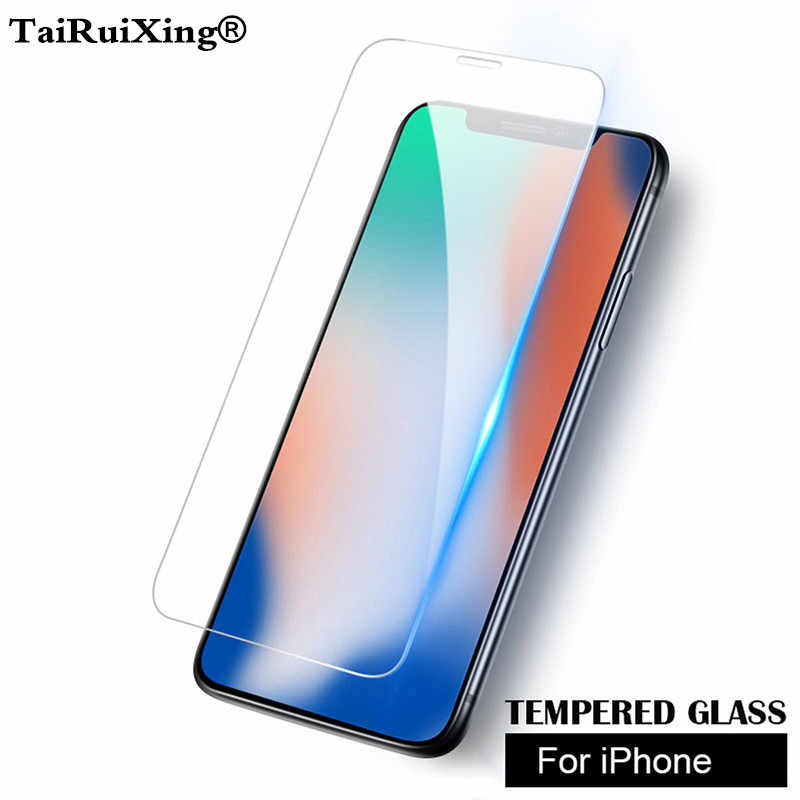 Screen Protector Clear Front Screen Protectors With Phone Screen Film Cleaning For iPhone XS Max XR XS X 10 8 7 6 6s Plus SE 5 4