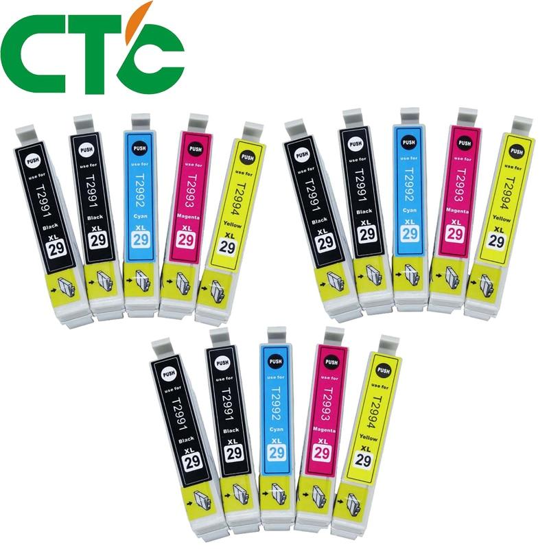 15 pcs T2991 29xl Cartucho de Tinta Compatível para TINTA XP-235 XP-332 XP-335 X-P432 XP-435 XP-247 XP-442 XP-342 XP-345
