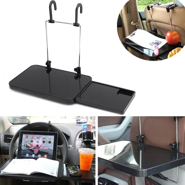 Multifunctional Tray Laptop Tablet Stand Food/Drink Holder For Car With  Drawer Portable New Laptop