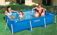 2016 new INTEX 28270 58983 rectangular block bracket pool home swimming pool for children 220cm*150m*60m With filter pump
