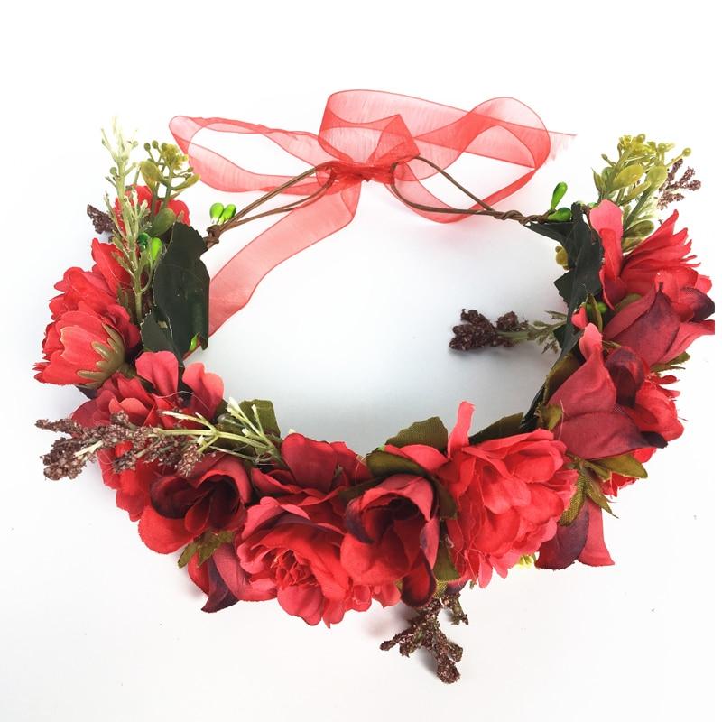 Obliging Womens Kids Girls Boho Flower Floral Hairband Headband Crown Party Wedding Beach 6 Colour Mother & Kids