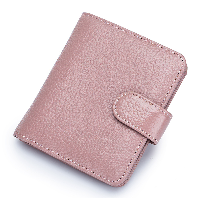 Fashion Women Purse Genuine Cow Leather Wallets Organizer Money Bag Pouch Card Case Pocket For Men Lady Female Coin Purse