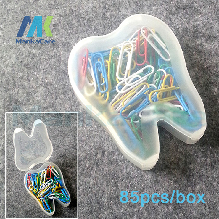 2 Boxes Manka Care Colored Paper Clips Top Quality Office Accessories Home/School Stationery With Dental Shape Box