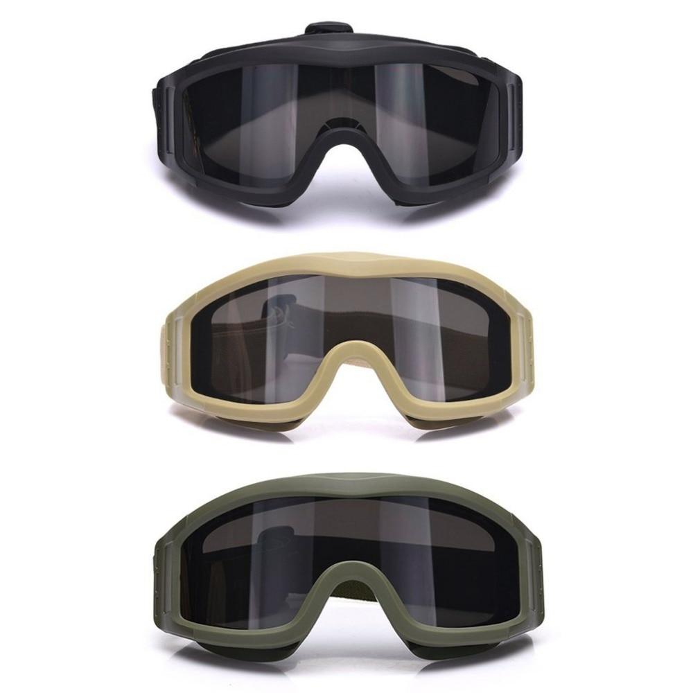Tattico di Campeggio Ciclismo Protettiva S67 Occhiali Glassess Occhiali Occhio di Protezione Antipolvere con 3 Lenti per CS Gioco Airsoft di Sicurezza