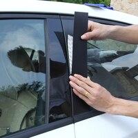 6pcs for AUDI Q5 2009 2018 Window column Decoration trim Black mirror sticker