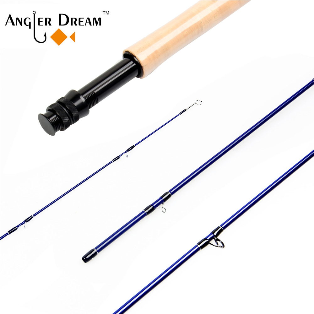 2018 New Arrival Great Carbon Fiber Fly Rod 3WT 5WT Access Medium Fast Action Fly Fishing
