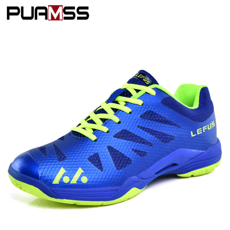 PUAMSS Men Sneakers Badminton Shoes Outdoor Sports Breathable Ladies Male High Quality Tennis shoes Female sporty Man Sneakers