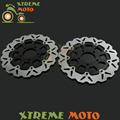 2Pcs Black Motorcycle Front Floating Brake Disc Rotor For SV GSXFGSXF GSX600F 04-06 GSF650 05-06 SV650 03-09 GSX750F 04-06