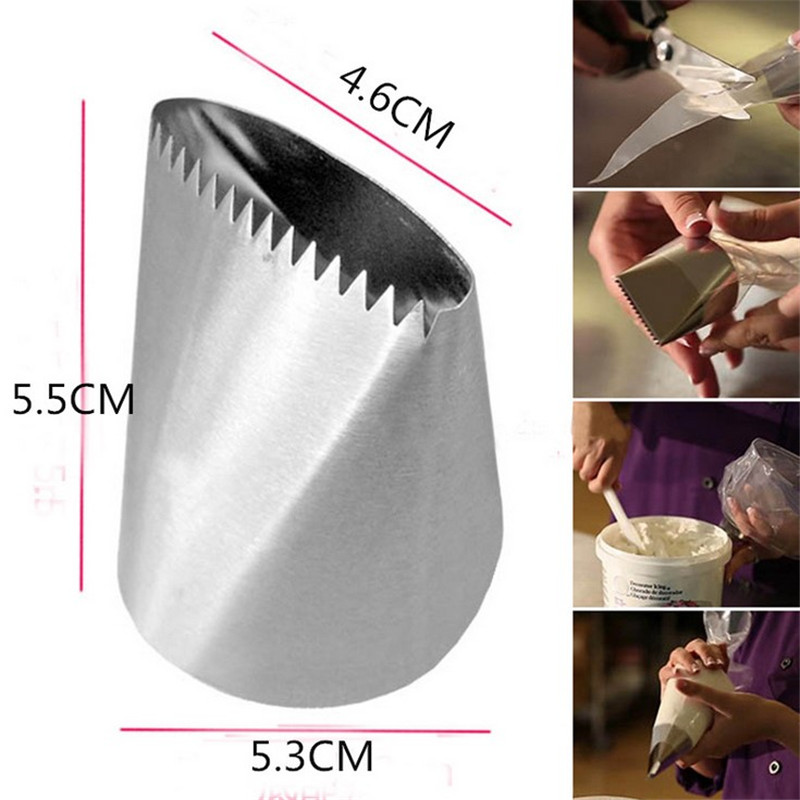 VOGVIGO Extra Large Icing Piping Nozzles Cake Decorating Pastry Tip Sets Fondant Cake Tools Steel Nozzle Set DIY Cake Decorating in Baking Pastry Tools from Home Garden