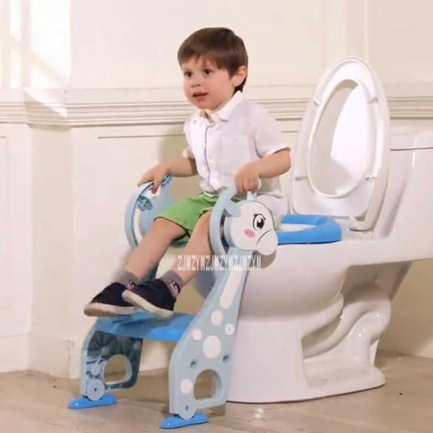 JT-001 Baby Potty Training Seat  3 Colors Children Potty Toilet Seat With Adjustable Ladder Infant Toilet Training Folding Seat