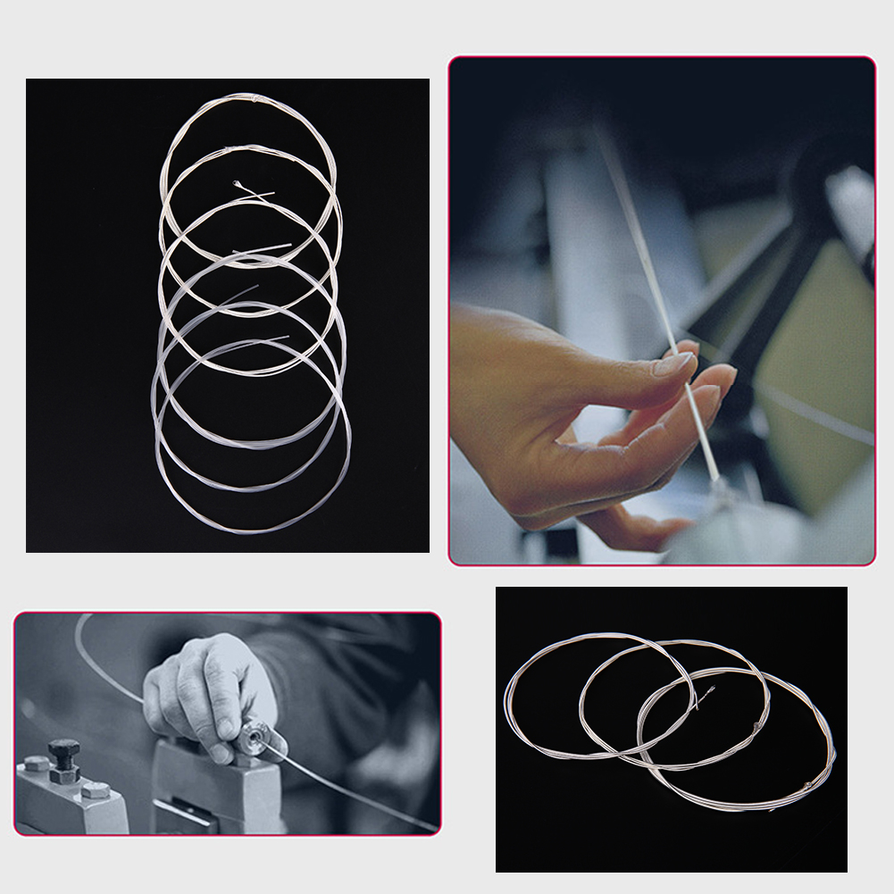 6pcs lot nylon classical guitar strings nano coating replacement wire normal tension guitar part. Black Bedroom Furniture Sets. Home Design Ideas