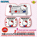 accessories Cartoon Hellokitty  front  side window sunshade Foils Windshield Visor Cover UV Protect Car window Film KT216A