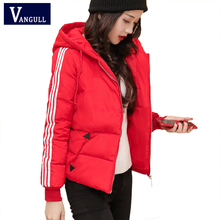 Casual Fashion Women's Clothing 2018 Winter hooded Thick Female Outwear zipper side Striped long sleeve Solid women Parkas