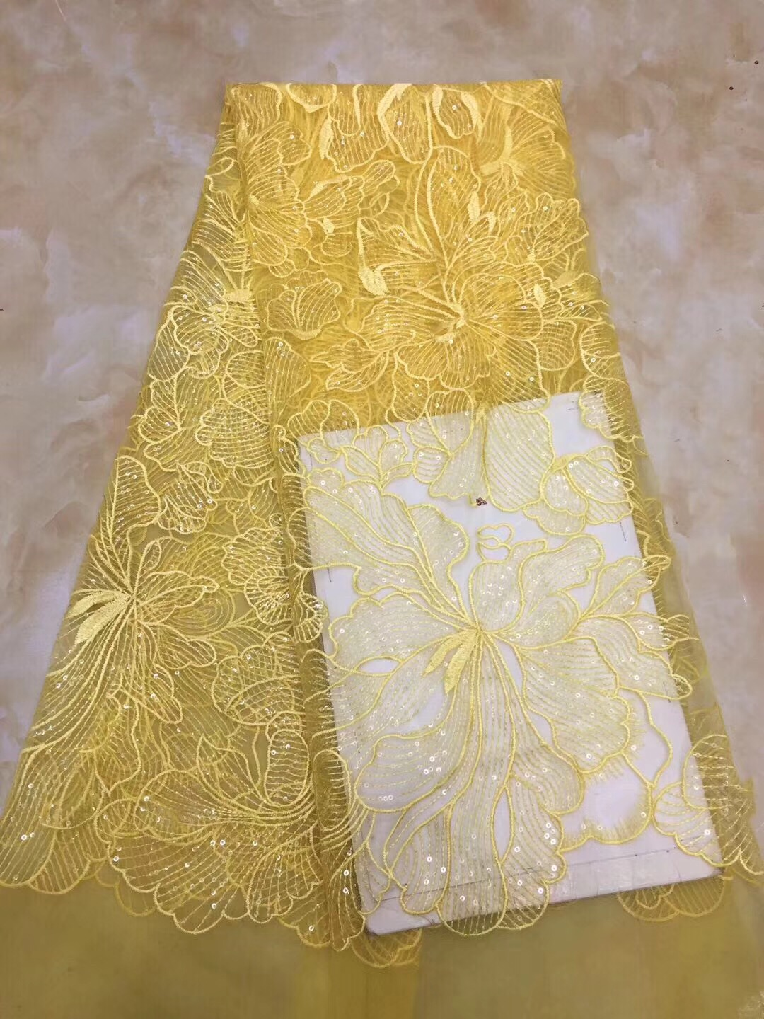 2018 Hot Sale french lace cheap african sequins lace fabric white yellow blue high quality african