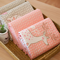 40*50CM Zoo Deer Rabbit Fox Cat  Sheep Twill Printed Cotton Fabric DIY Patchwork Sewing Baby Clothing Quilting Bedding Cloth