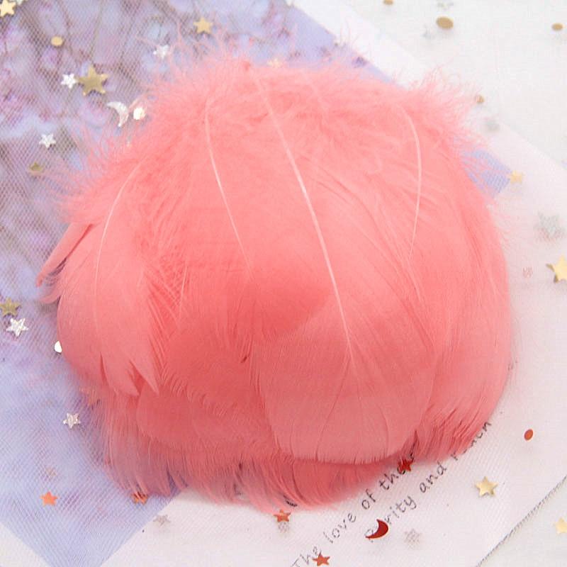 Натуральные гусиные перья 4-8 см, маленькие плавающие цветные перья лебедя, Плюм для рукоделия, свадебные украшения, украшения для дома, 100 шт