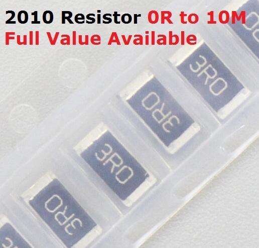 100PCS SMD Chip 2010 Resistor 2.4R/2.7R/3R/3.3R/3.6R 5% Resistance 2.4/2.7/3/3.3/3.6/Ohm Resistors 2R4 2R7 3R3 K Free Shipping