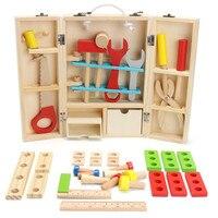 Trẻ Em Bán nóng Bé Đồ Chơi Giáo Dục Khối Xây Dựng Bằng Gỗ Board Game Toddler Đồ Chơi Học Tập Bộ Công Cụ Công Cụ Sửa Chữa Nghệ Thuật B