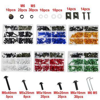 NICECNC 224 Pcs Fairing Bolt Kit Fastener Clips Bodywork Screws For Honda CBR600 F F2 F3 F4 F4i CBR 600RR 900RR 929RR 954RR RC51